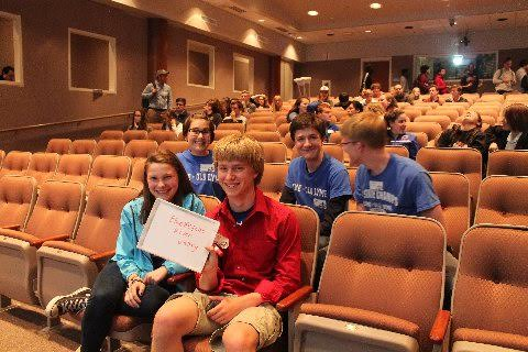 Lyme—Old Lyme High School students display their winning tie-breaker answer at the 25 th annual Connecticut High School Geography Challenge at UConn in Storrs on Tuesday, May 17, 2016.